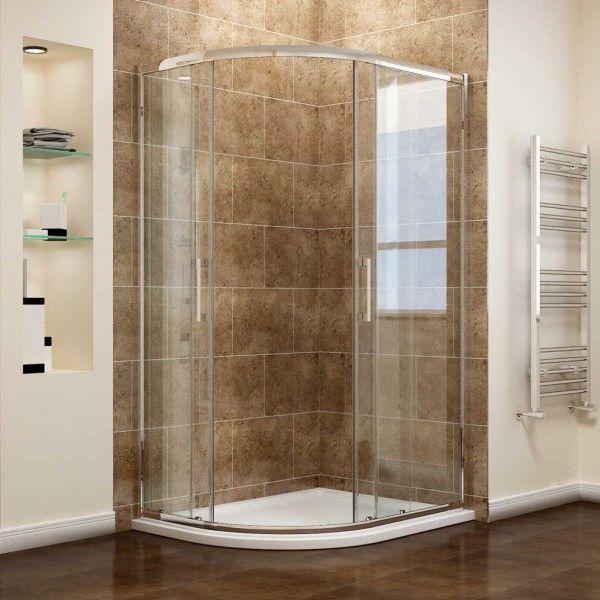 Phòng tắm kính lùa cong